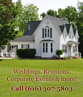 Book the Allegan Country Inn for your wedding, reunion, or other event!